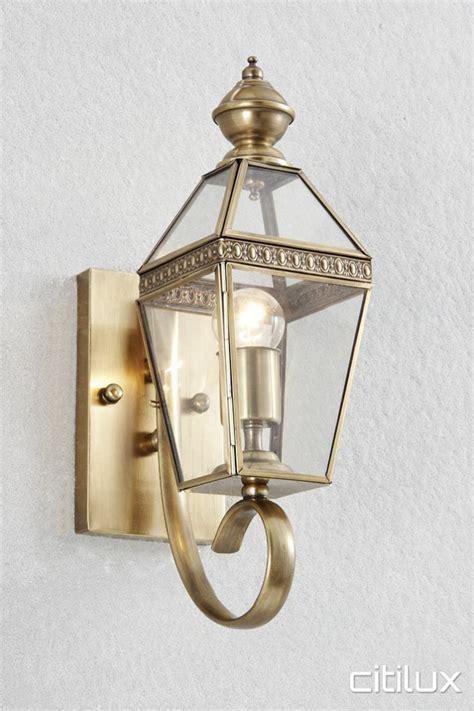 brass outdoor wall light oran park outdoor brass wall light range