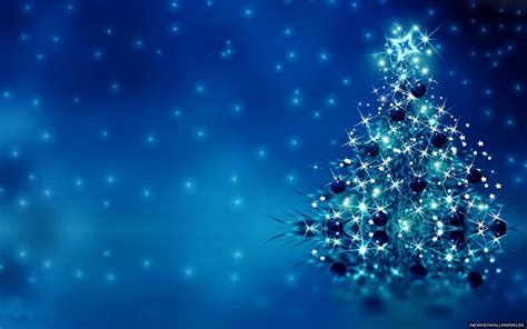 blue merry christmas tree hd photo free wallpapers new