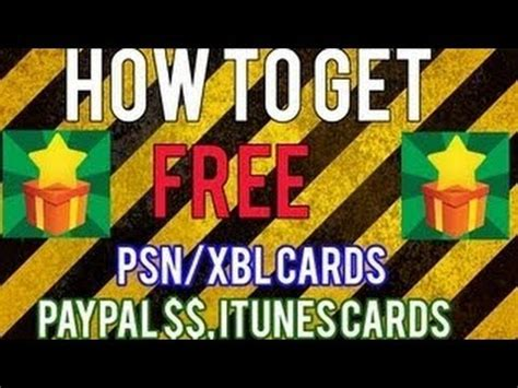 Itunes Gift Card To Paypal Money - how to get free psn xbl cards itunes amazon cards paypal cash etc w appnana