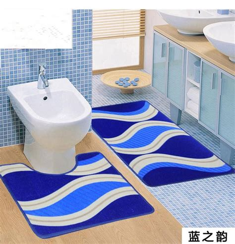 dolphin themed bathroom 2pcs set cute dolphin marine theme bathroom rug mats