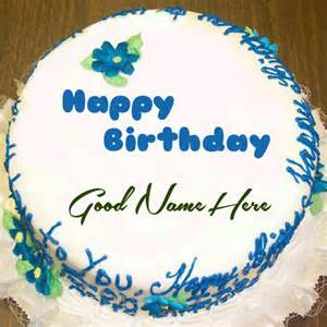 Happy birthday cake with name edit for facebook birthday cakes with