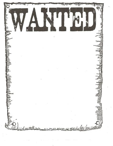 Free Wanted Poster Template Google Search Western Free Wanted Poster Template