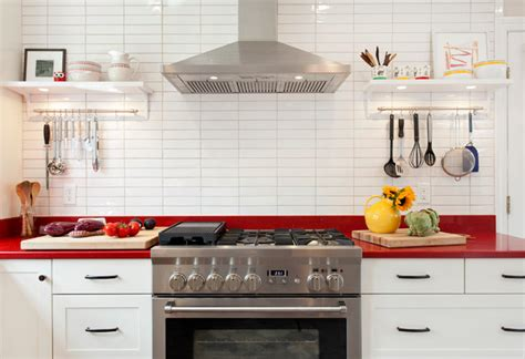 scandinavian kitchen cabinets white cabinets and red countertops scandinavian