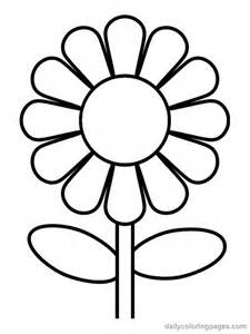Flower Coloring Pages For Preschoolers sketch template