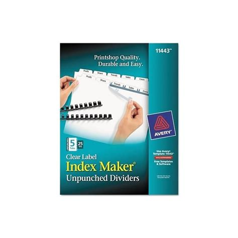 avery index maker 5 tab template avery 5 tab template 11443 the hakkinen