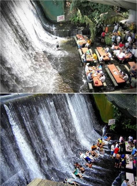 villa escudero waterfalls restaurant 10 most amazing exotic restaurants waterfall restaurant
