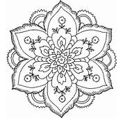 Hard Flower Coloring Pages  Page