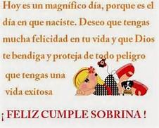 de cumpleaños para 1 sobrina ~ Frases de cumpleaños | Tarjetas de ...