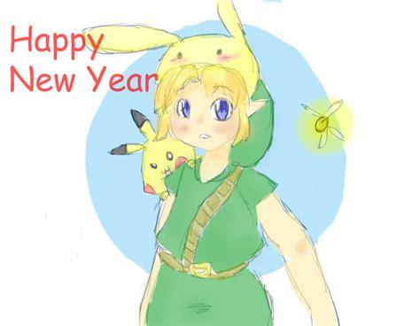 links of new year link pikachu happy new year by sdemanawa on deviantart
