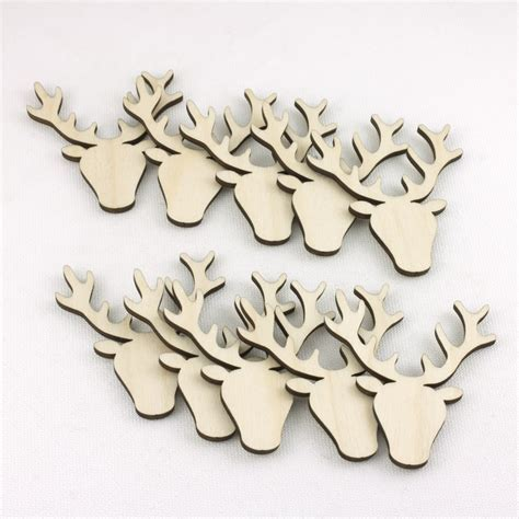 Mini Wooden Stag Heads   Artcuts