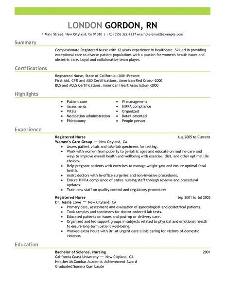 How To Make A Rn Resume by Best Registered Resume Exle Livecareer