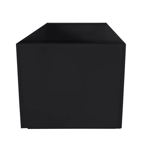 Square Metal Planters by Black Square 16 Inch Metal Planter Box Large Aluminum