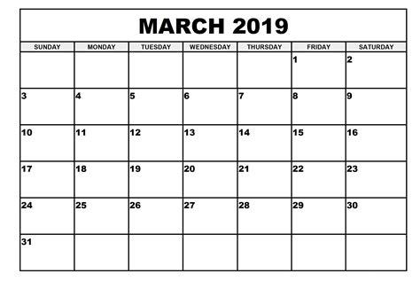 monthly printable calendar march calendar march
