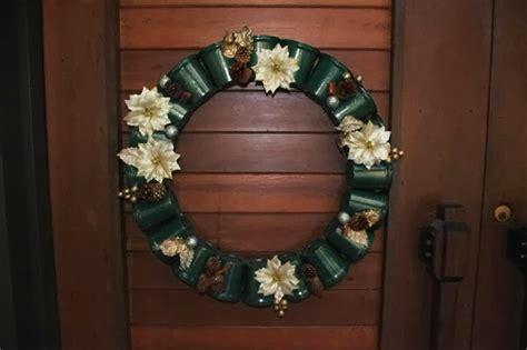 recycle plastic cups wreath  decor tutorial