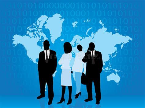 mundo do homem espiritual imagem de stock royalty free executivos da parte do mundo da tecnologia imagem de stock