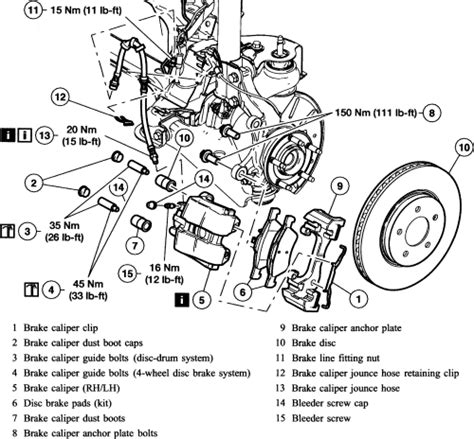 ford escape fwd front rotor removal