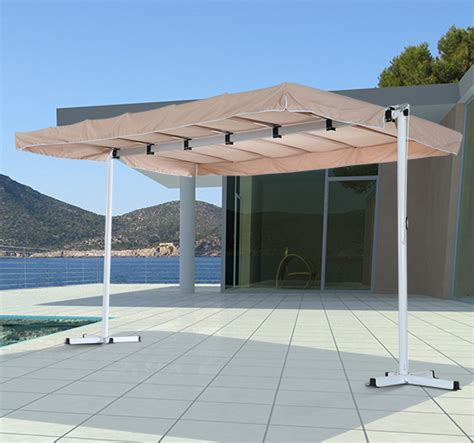 free standing awning outsunny 3 75 x 2 5m outdoor free standing garden awning