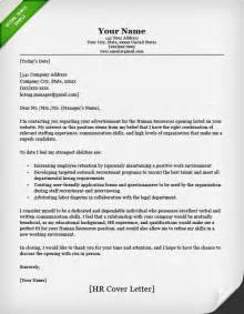 cover letter for a human resources position human resources cover letter sle resume genius