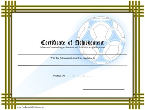 free soccer certificates to print just b cause
