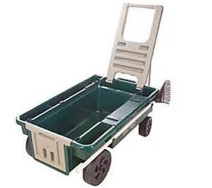 ames truetemper deluxe 4 cubic foot planters wagon qvc