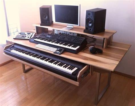 Custom Made Audio Video Production Desk W Keyboard Studio Production Desk