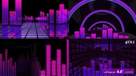 after effects free template music equalizer vj equalizer motion graphics videohive 187 free after