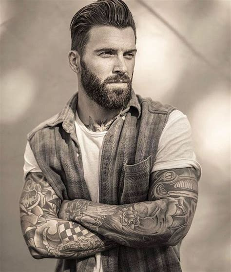 bearded tattooed man 40 best beards and tats images on beard