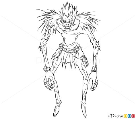 L Drawing Easy by How To Draw Ryuk Note How To Draw Drawing Ideas