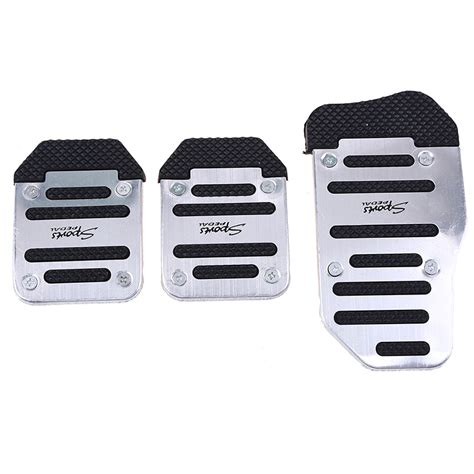 Autoparts1 Pedal Gas Manual universal racing sports silvery non slip manual car truck foot pedals pad cover ebay