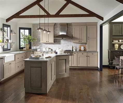 Taupe Kitchen Cabinets These Taupe Kitchen Cabinets Are Shown With Perimeter Cabinetry In True Taupe Paint On Maple And