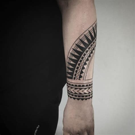 samoa detailed tribal pattern barely