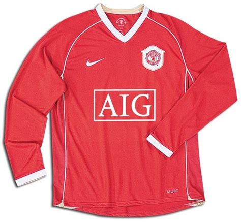 2006 2007 Manchester United Home Original Jersey Size L Ronaldo 7 manchester united shirts 2007 home sleeve football shirt picture