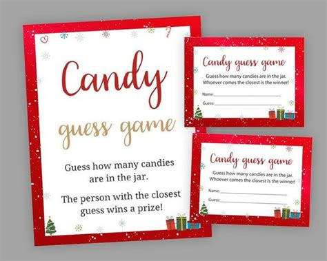 guessing games for christmas baby shower guessing guess how etsy