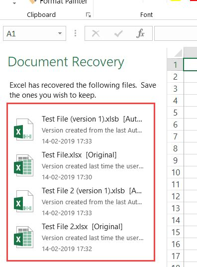 How To Recover Documents In Excel