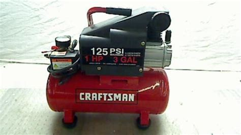 craftsman 125 psi 1 hp 3 gallon air compressor ebay