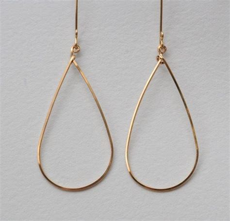 gold drop handmade hoop earrings wire wrap
