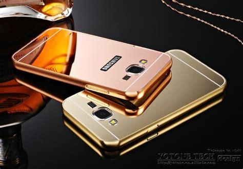 Shining Chrome For Samsung J3 Bumper Transparan capa capinha bumper espelhada celular samsung galaxy j3