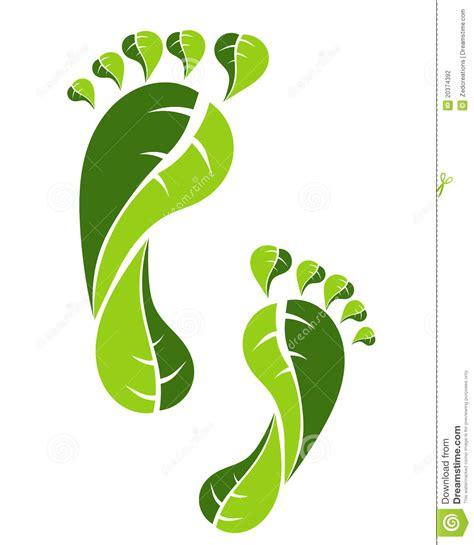 imagenes huellas verdes huella verde de eco fotograf 237 a de archivo imagen 20374392