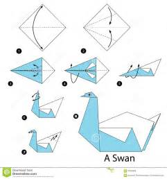 Steps To Make Origami Animals - origami swan www pixshark images