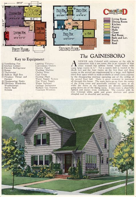 home plans magazine 1927 gainsboro two story modern colonial vintage 1920s