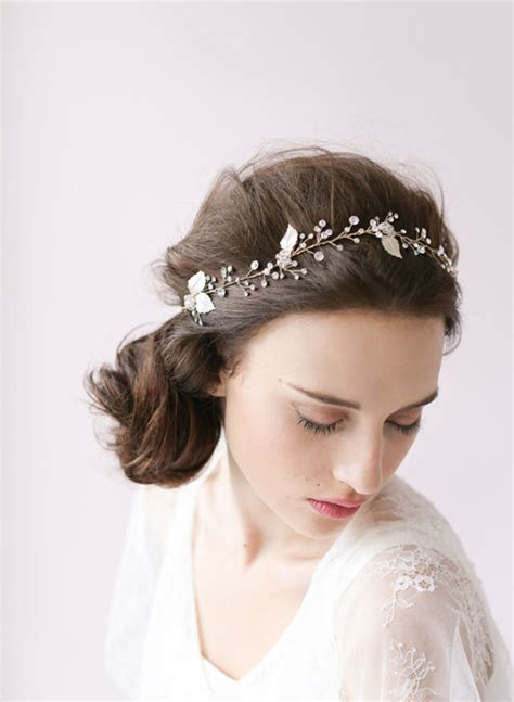 Wedding Headpieces Bridal Hair Accessories by Bridal Flower Headpieces Chic Stylish Weddings