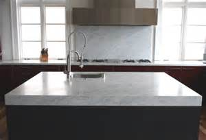 bianco carrara marble kitchen countertops
