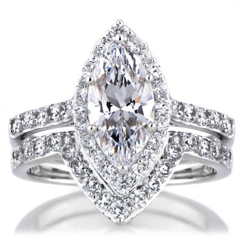 15 ideas of marquise cut wedding rings sets
