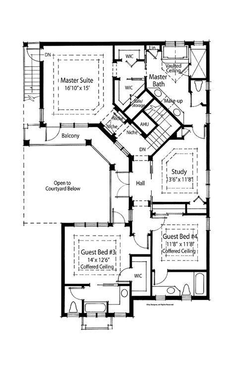 floor plans with courtyards interior and decorating ideas