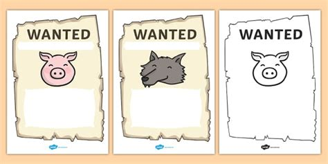 printable wanted poster for the big bad wolf big bad wolf wanted posters big bad wolf wanted posters