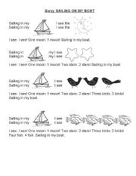 boat song lyrics in english english worksheets sailing on my boat song