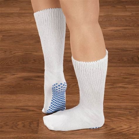 slipper sock soles diabetic slipper socks with gripper soles kimball