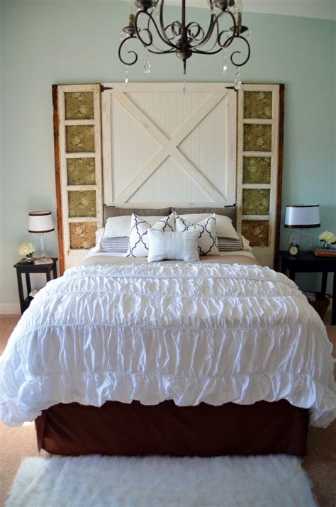 Barn Door Headboard Barn Door Headboard Master Bedroom Reveal Home Stories A To Z