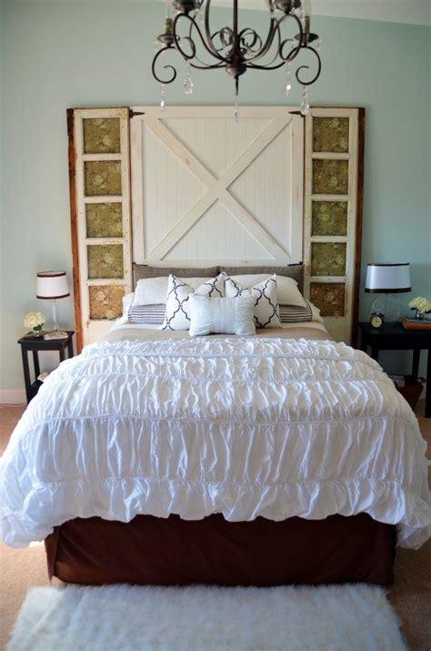 barn door headboard master bedroom reveal home stories