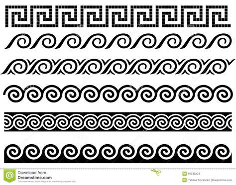 greek pattern name meander en golf oud grieks ornament vector illustratie